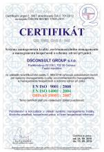 ISO 9001:2008, ISO 14001:2004, OHSAS 18001:2007